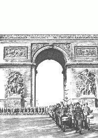 L'armée allemande défile à Paris